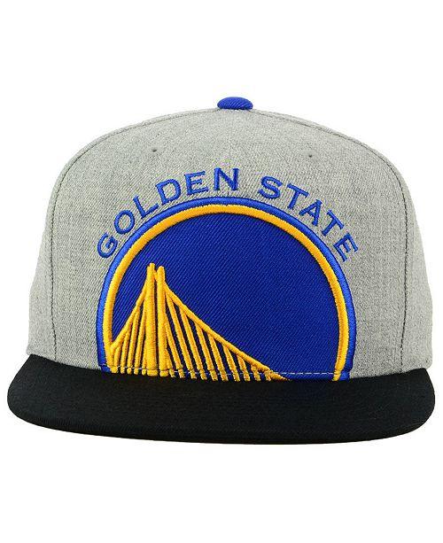 Mitchell   Ness Golden State Warriors Cropped Heather Snapback Cap - Sports  Fan Shop By Lids - Men - Macy s 957acd51fea8