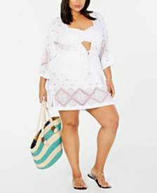 Dotti Plus Size Santorini Kimono Cover-Up