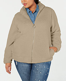 Planet Gold Plus Size Fleece Hoodie