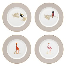 "Portmeirion Sara Miller 8"" Set of 4 Assorted Piccadilly Plates"