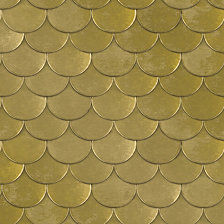 Genenieve Gorder For Tempaper Brass Belly Self-Adhesive Wallpaper