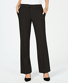 Nine West Classic Windowpane-Print Pants
