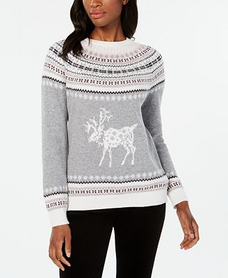 Tommy Hilfiger Fair Isle Reindeer Pattern Sweater Created For