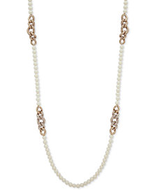 "Lauren Ralph Lauren Beaded Crystal Link 42"" Strand Necklace"