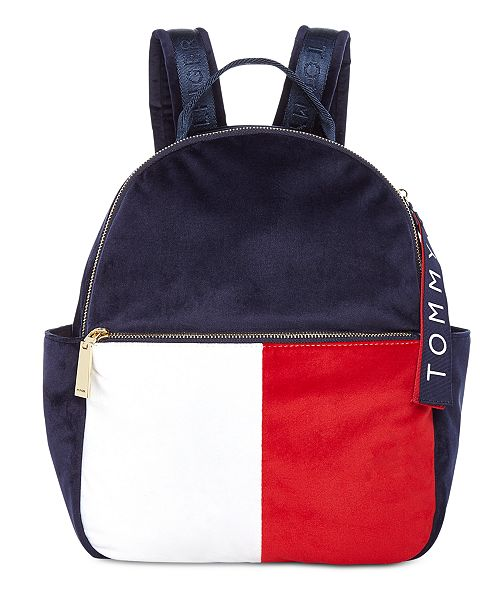 f7b8c76f Tommy Hilfiger Isa Velvet Backpack; Tommy Hilfiger Isa Velvet Backpack ...