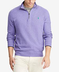 Polo Ralph Lauren Mesh Cotton Half-Zip Sweater