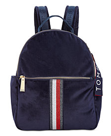 Tommy Hilfiger Isa Metallic Flag Velvet Backpack