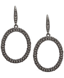 Lauren Ralph Lauren Hematite-Tone Pavé Hoop Drop Earrings