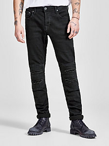 JACK & JONES Glenn Slim Fit Ripped Biker Jeans