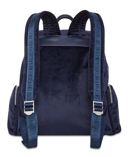 80df7a56 Tommy Hilfiger Tommy Velvet Flap Backpack & Reviews - Handbags ...