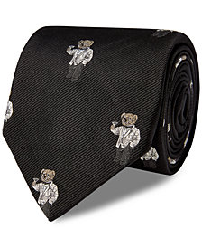 Polo Ralph Lauren Men's Polo Martini Bear Silk Tie
