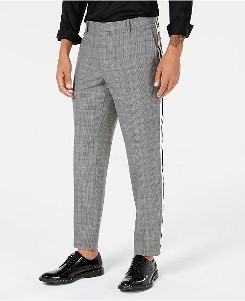 b65c66f4 I.N.C. Men's Glen Plaid Side-Striped Pants, Created for Macy's