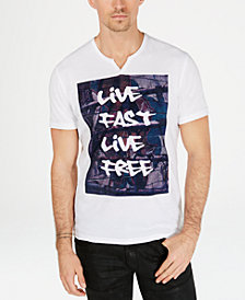 I.N.C. Men's Live Fast Live Free Graphic T-Shirt, Created for Macy's
