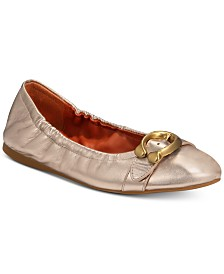 3939c5b31e00 COACH Stanton Natural Ballet Flats