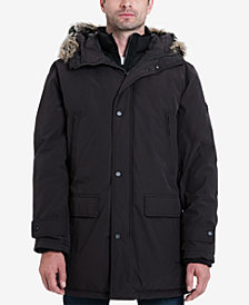 Michael Kors Men's Big & Tall Hooded Bib Snorkel Coat, Created for Macy's
