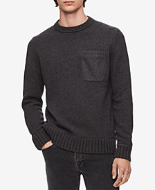 Calvin Klein Men's Felt-Pocket Sweater