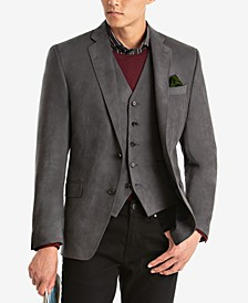Men's Classic-Fit Faux-Suede Matching Jacket and Vest