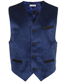Calvin Klein Big Boys Blue Velvet Vest