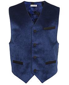 Calvin Klein Big Boys Blue Velvet Vest