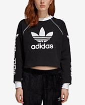 14856650c5d90 adidas Originals Cotton French Terry Cropped Sweatshirt