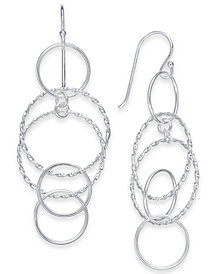 Giani Bernini Multi-Circle Drop Earrings in Sterling Silver, Created for Macy's