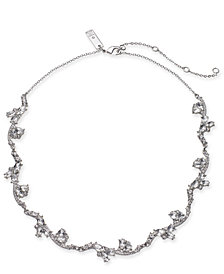 "I.N.C. Silver-Tone Crystal Collar Necklace, 16"" + 3"" extender, Created for Macy's"