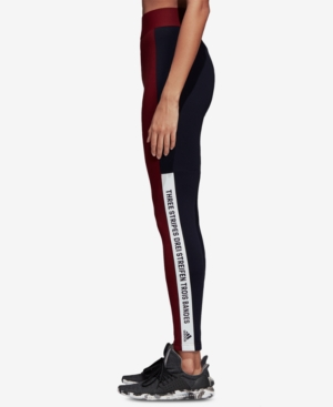 Adidas Sport Id Topography Leggings in Noble MaroonLegend Ink
