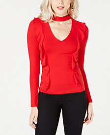GUESS Koloa Ruffled Choker Top