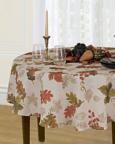 "Elrene Swaying Leaves 70"" Round Tablecloth"