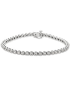 Lab Grown Diamond Tennis Bracelet (3 ct. t.w.) in 14k White Gold