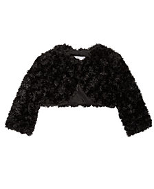 Bonnie Baby Baby Girls Faux Fur Shrug