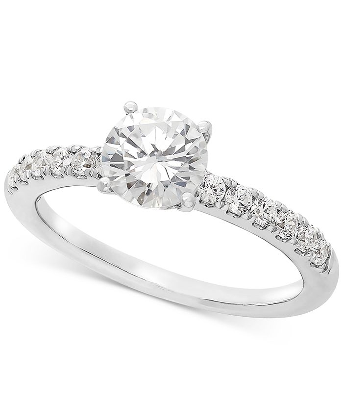 Grown With Love - Lab Grown Diamond Engagement Ring (1-1/4 ct. t.w.) in 14k White Gold