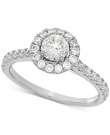 Lab Grown Diamond Halo Engagement Ring (1 ct. t.w.) in 14k White Gold