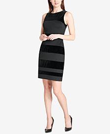 Tommy Hilfiger Velvet-Stripe Dress