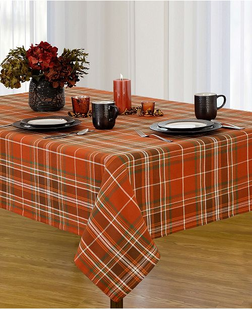 Elrene Loden Plaid Tablecloth Collection