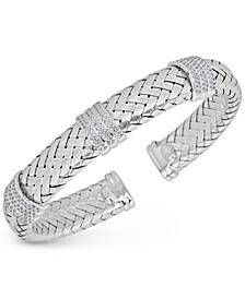 Diamond Braided Cuff Bracelet (1-1/4 ct. tw.) in Sterling Silver