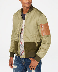 GUESS Men's Colorblocked Zip-Front Jacket