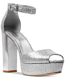 MICHAEL Michael Kors Paloma Metallic Block-Heel Sandals