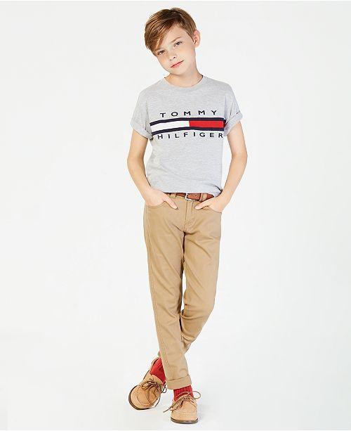 Tommy Hilfiger Graphic-Print Cotton T-Shirt, Big Boys