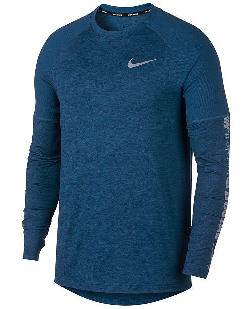 Nike Men s Element Long-Sleeve Running Shirt - T-Shirts - Men - Macy s 30d4647ae66b