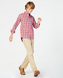 Big Boys Box-Plaid Cotton Shirt