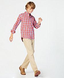 Tommy Hilfiger Big Boys Box-Plaid Cotton Shirt