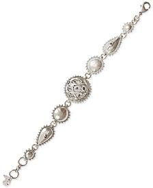 Lucky Brand Silver-Tone Pavé Flex Bracelet