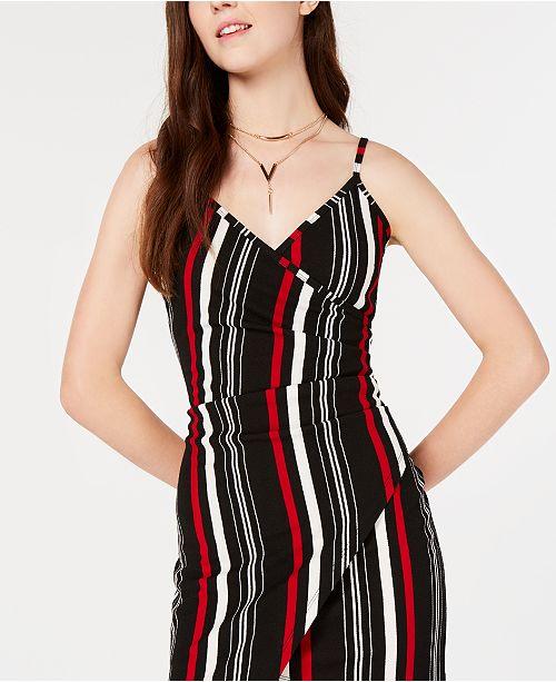 cd12ecdc3aa Almost Famous Juniors' Asymmetrical Wrap Dress & Reviews ...