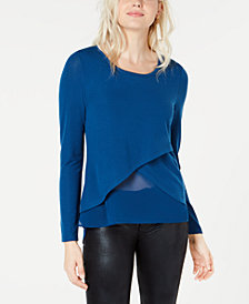 Bar III Layered-Look Top, Created for Macy's