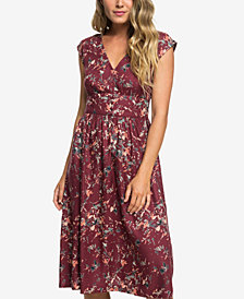 Roxy Retro Poetic Printed Woven Dress