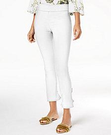 I.N.C. Ruffled-Hem Ankle Skinny Pants, Created for Macy's