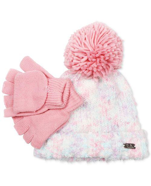 6ad3eea5fc7 ... P.S. from Aeropostale Little Girls 2-Pc. Pom-Pom Hat   Adjustable  Gloves ...