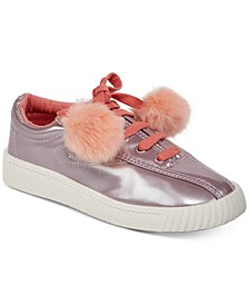 Little & Big Girls Nylite Pom Pom Sneakers