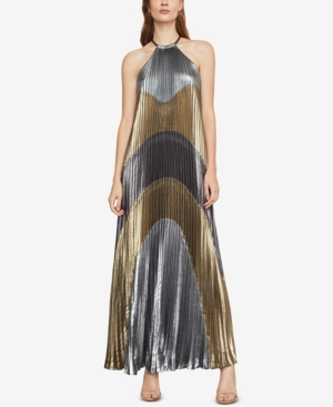 70s Prom, Formal, Evening, Party Dresses Bcbgmaxazria Metallic Colorblocked Pleated Gown $448.00 AT vintagedancer.com